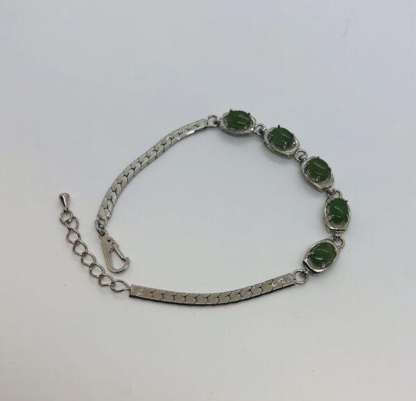 Canadian Jade Rhodium bracelet